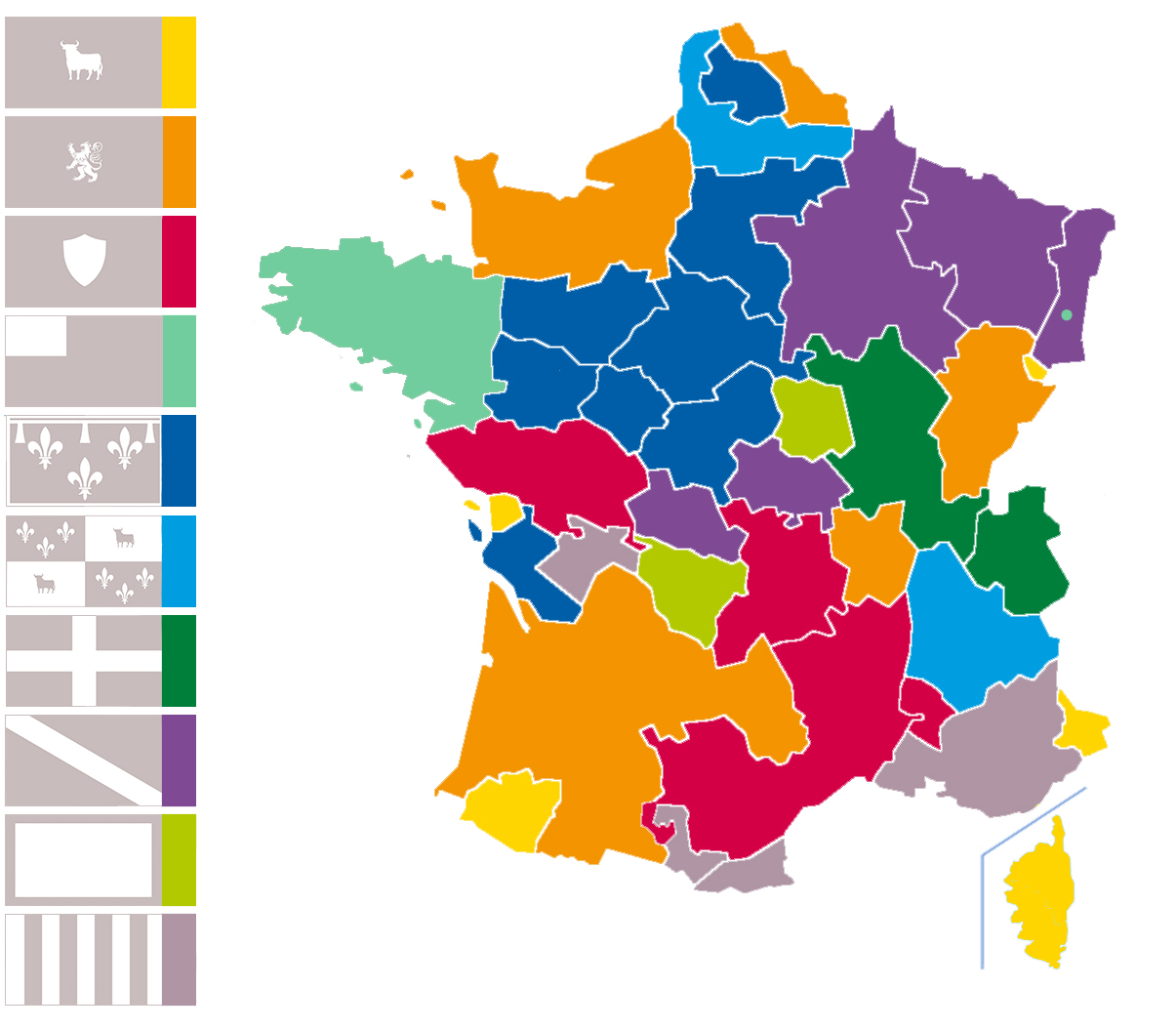 Flags Of France The Dialogue - France provinces map